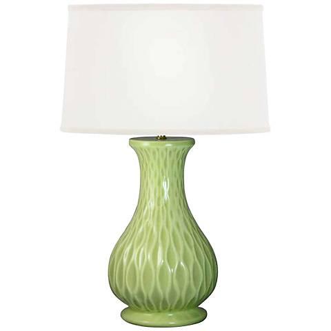 Swell Celedon Whimsical Waves Ceramic Table Lamp