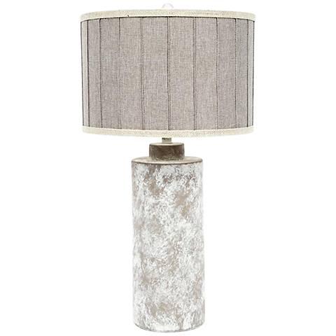 Vexa Basalt Distress Column Ceramic Table Lamp