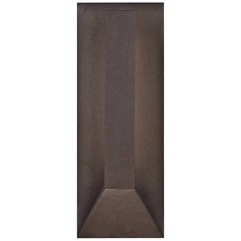 """dweLED Uno 15 1/4"""" High Bronze LED Outdoor Wall Light"""