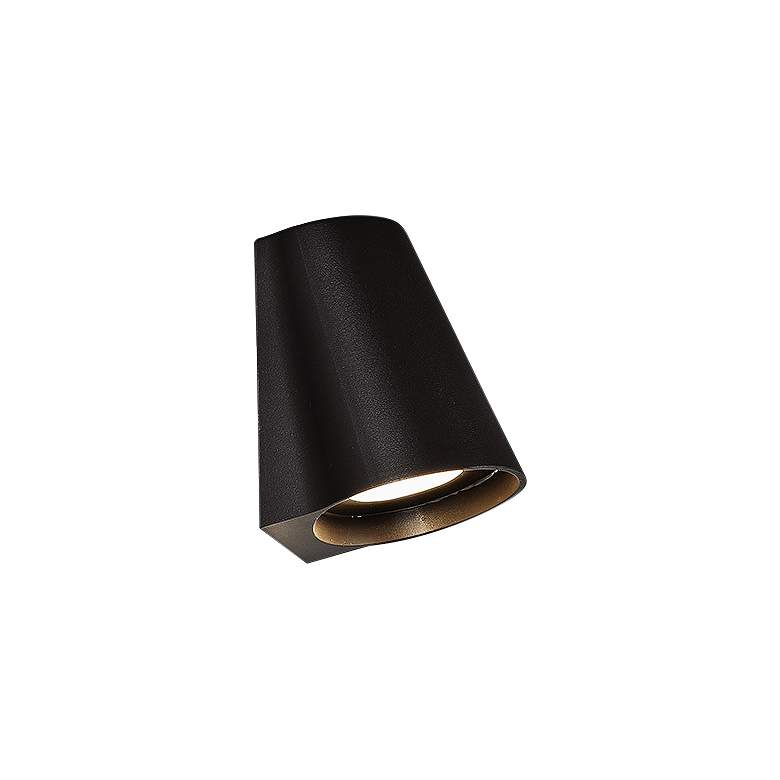 "dweLED Mod 5 1/4"" High Bronze LED Outdoor Wall Light"