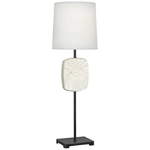 Michael Berman Alberto Bronze and Lily Buffet Table Lamp