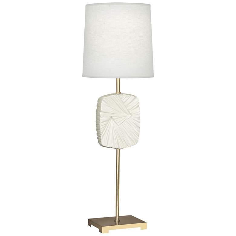 Michael Berman Alberto Brass and Lily Buffet Table Lamp