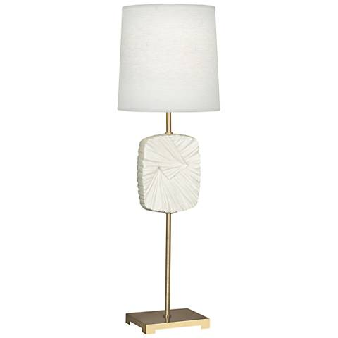 Michael Berman Alberto Brass and Lily Buffet Table Lamp