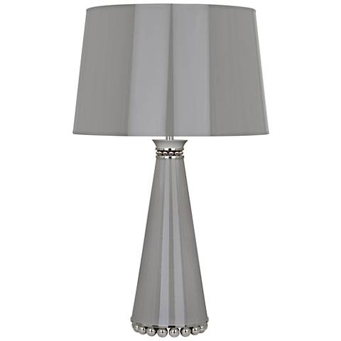 Robert Abbey Pearl Smokey Taupe and Nickel Table Lamp