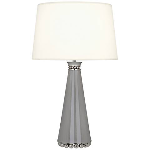 Pearl Smokey Taupe and Nickel Table Lamp w/ Fondine Shade