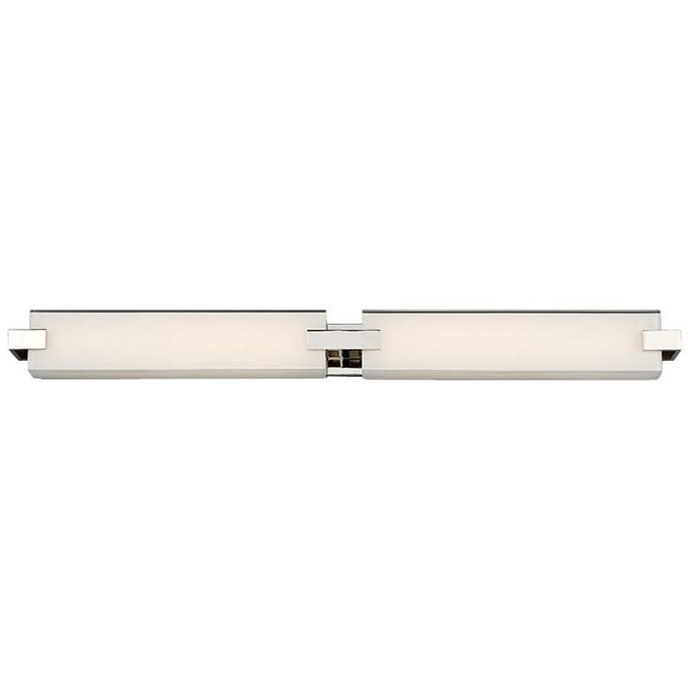 "dweLED Bliss 36"" Wide Polished Nickel 2-Light LED"