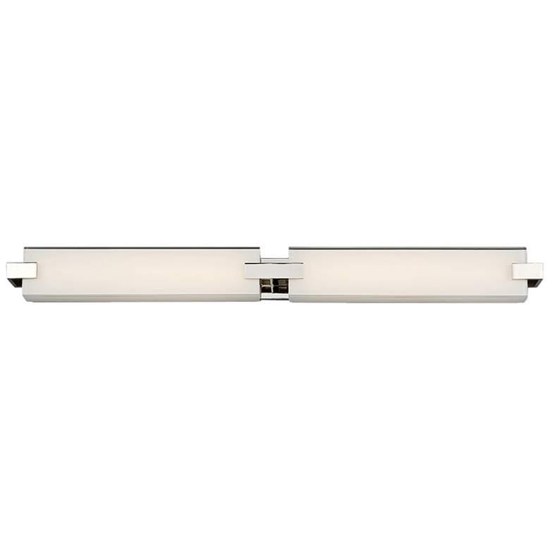 "dweLED Bliss 36"" Wide Polished Nickel 2-Light LED Bath Light"