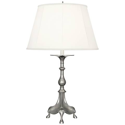Robert Abbey Rico Espinet Adria Antique Silver Table Lamp
