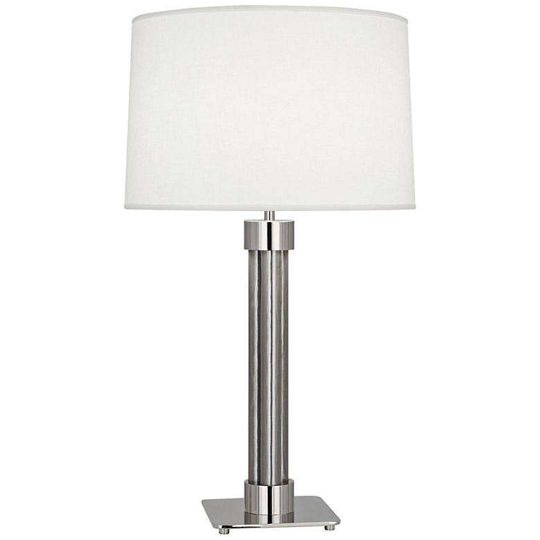 Todd Polished Nickel and Stainless Steel Mesh Table Lamp