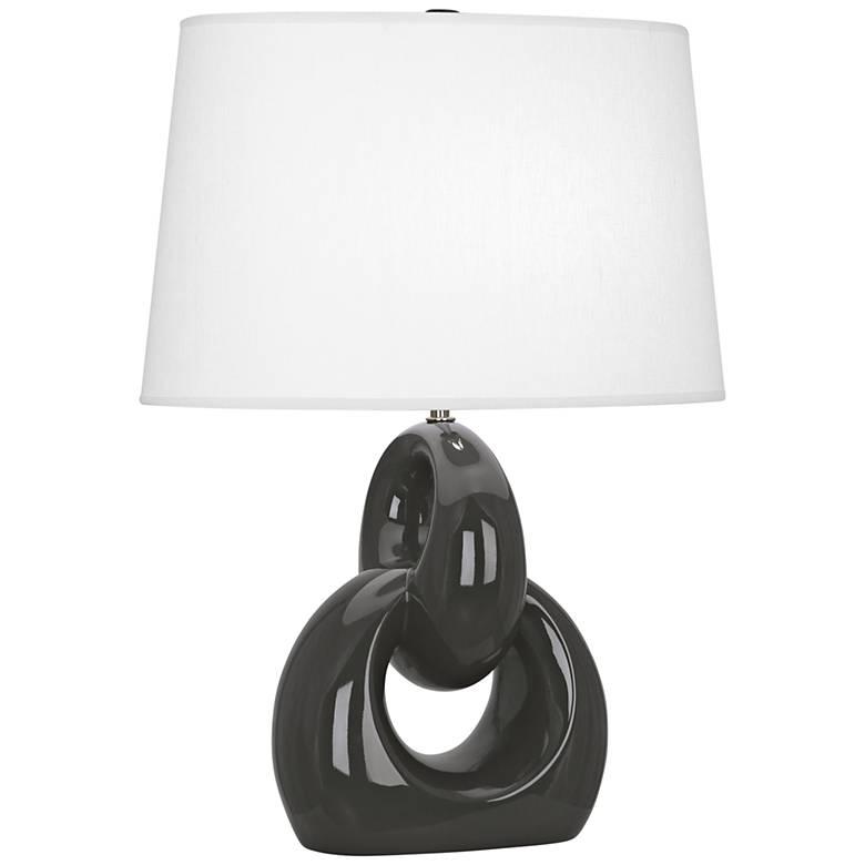Robert Abbey Fusion Ash Ceramic Table Lamp