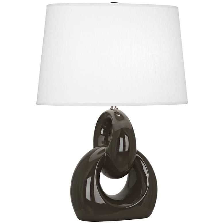 Robert Abbey Fusion Coffee Ceramic Table Lamp