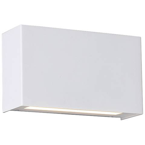 "dweLED Blok 7"" High White LED Wall Sconce"