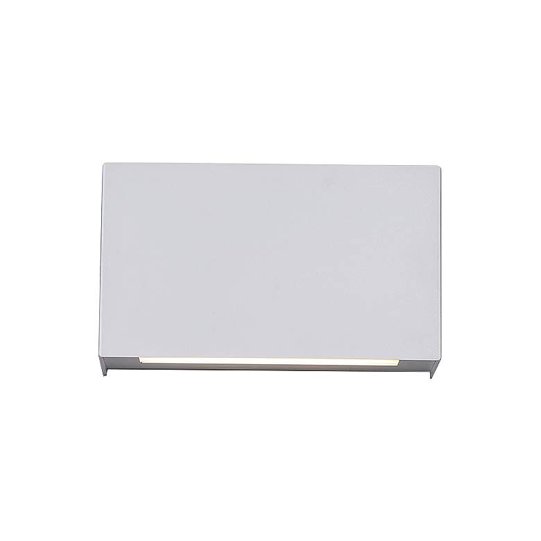 "Blok 7""H White LED Wall Sconce w/ Emergency Backup Battery"