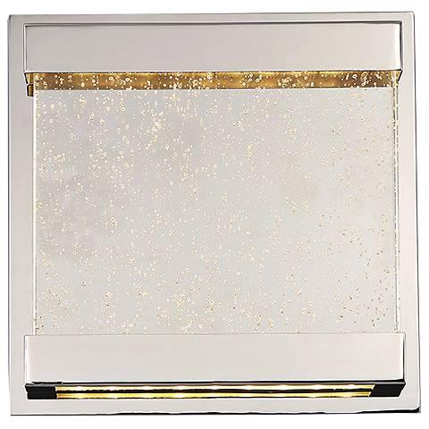 """dweLED Mythical 12"""" High Polished Nickel LED Wall Sconce"""