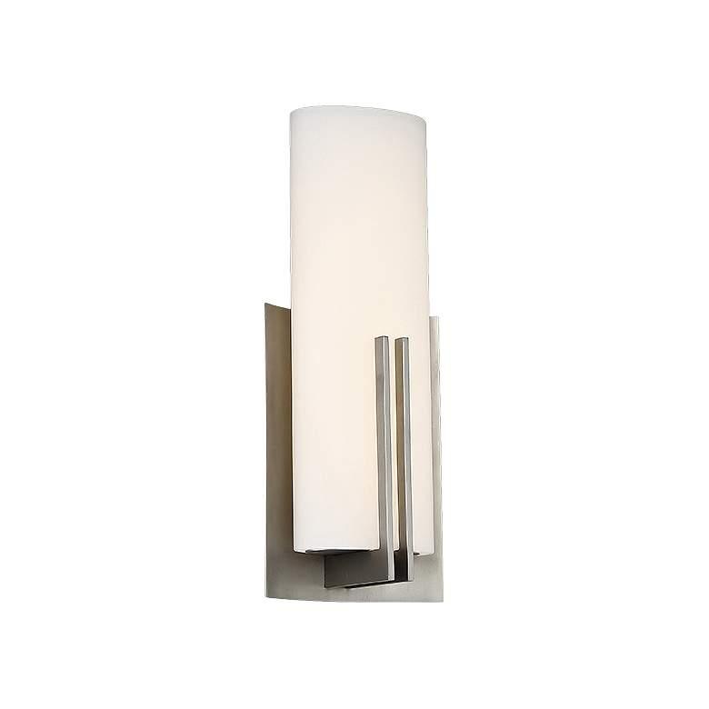 "dweLED Moderne 15"" High Satin Nickel LED Wall Sconce"