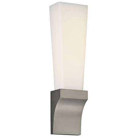 "dweLED Empire 18"" High Satin Nickel LED Wall Sconce"