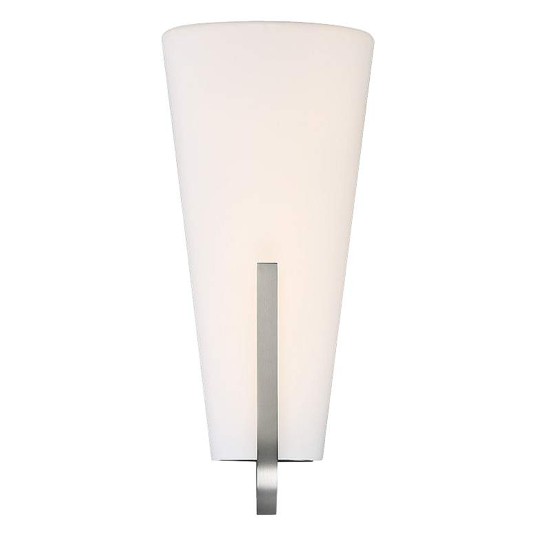 "dweLED Aviator 18"" High Satin Nickel LED Wall Sconce"