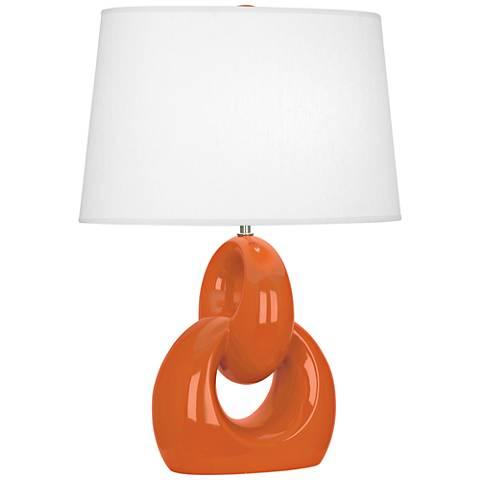 Robert Abbey Fusion Pumpkin Ceramic Table Lamp
