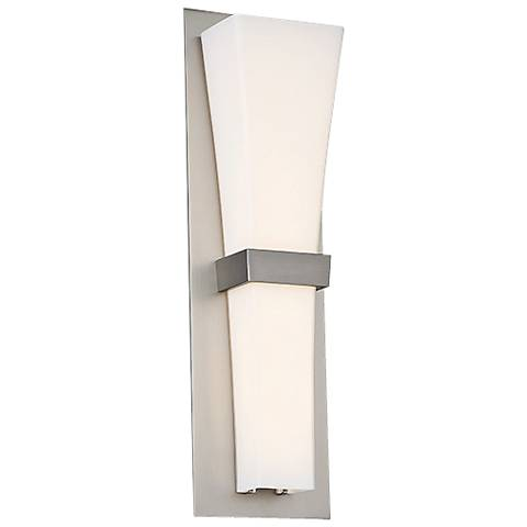 "dweLED Prohibition 20"" High Satin Nickel LED Wall Sconce"