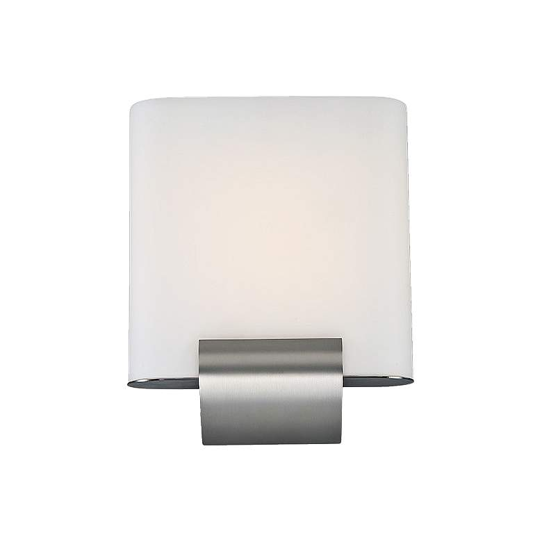 """dweLED Coco 12"""" High Satin Nickel LED Wall Sconce"""