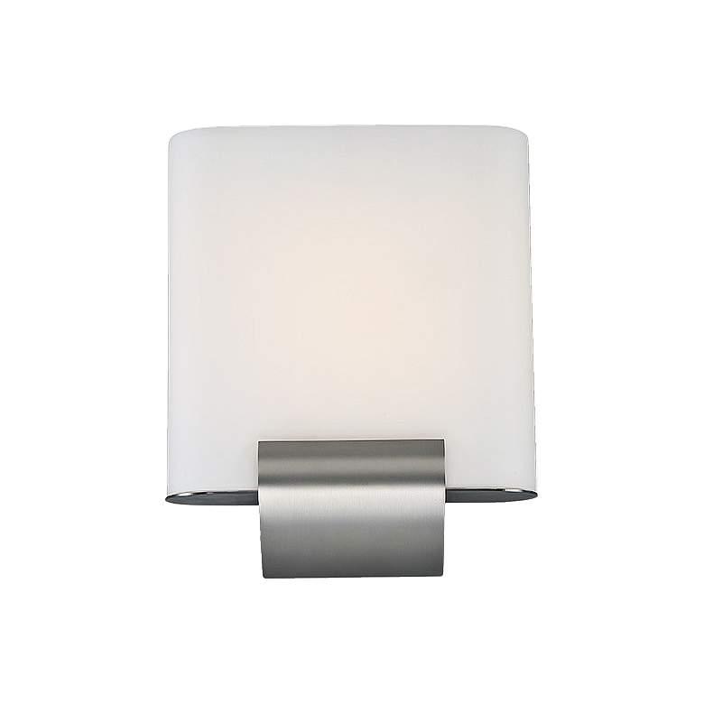 "dweLED Coco 12"" High Satin Nickel LED Wall"