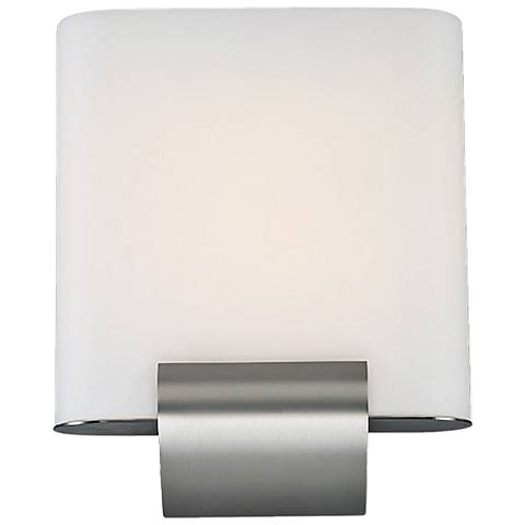"dweLED Coco 12"" High Satin Nickel LED Wall Sconce"