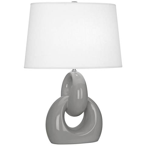 Robert Abbey Fusion Smoky Taupe Ceramic Table Lamp