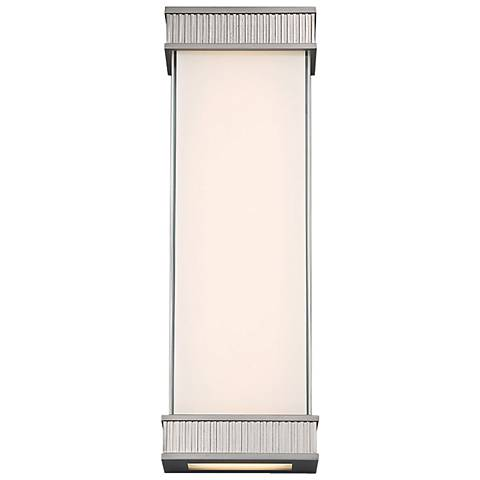 "dweLED Delano 18"" High Satin Nickel LED Wall Sconce"