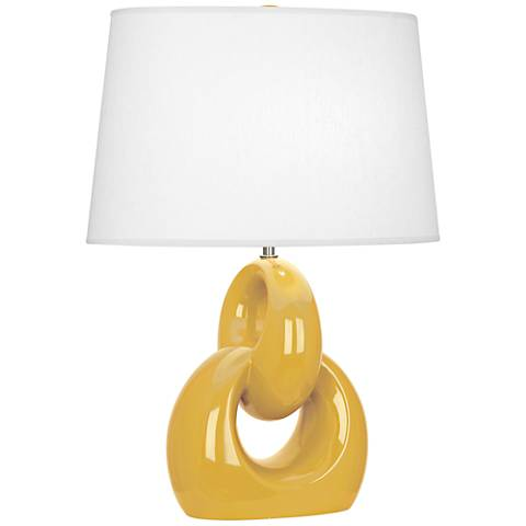 Robert Abbey Fusion Sunset Yellow Ceramic Table Lamp