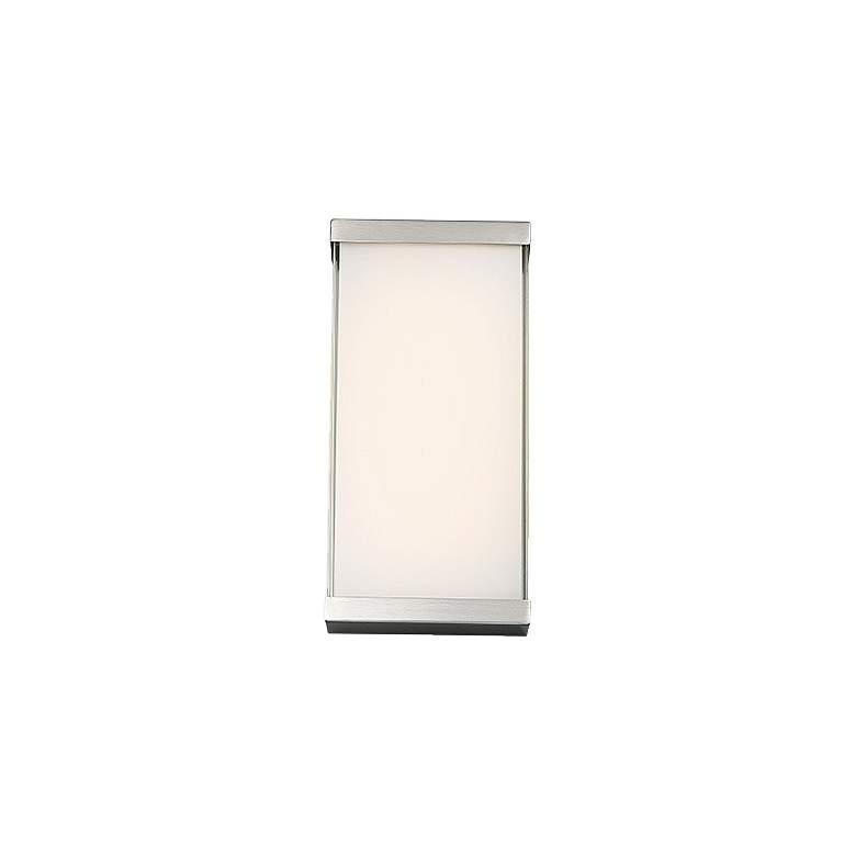 "dweLED Float 12"" High Brushed Nickel LED Wall Sconce"
