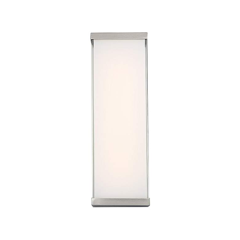 "dweLED Float 18"" High Brushed Nickel LED Wall Sconce"