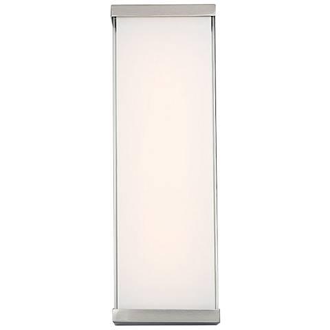 "dweLED Float 18"" High Brushed Nickel LED Wall Sconce"