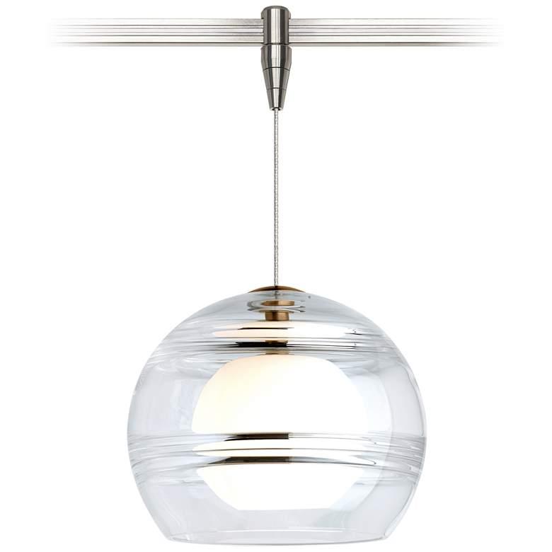 "Sedona 6""W Clear and Satin Nickel LED Monorail Mini Pendant"