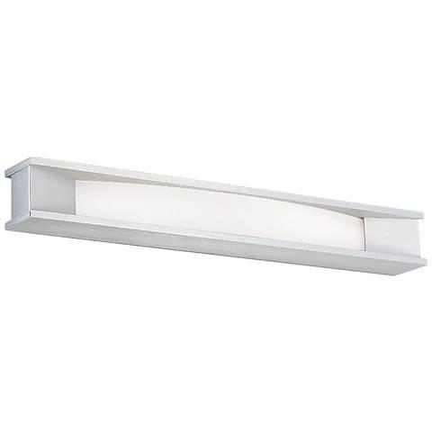 """dweLED Fuse 27"""" Wide Brushed Aluminum LED Bath Light"""