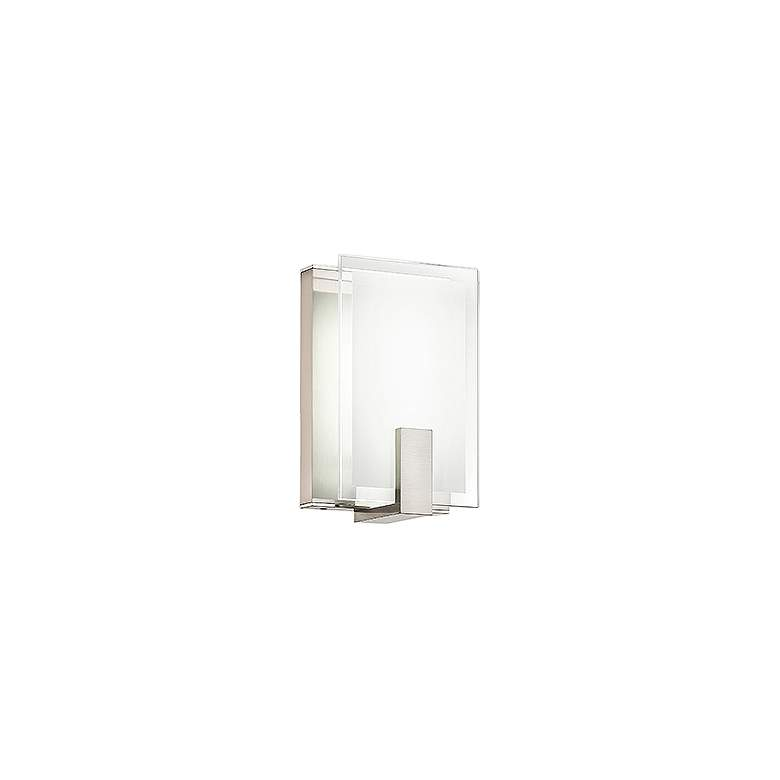 "dweLED Meridien 9"" High Brushed Nickel LED Wall Sconce"