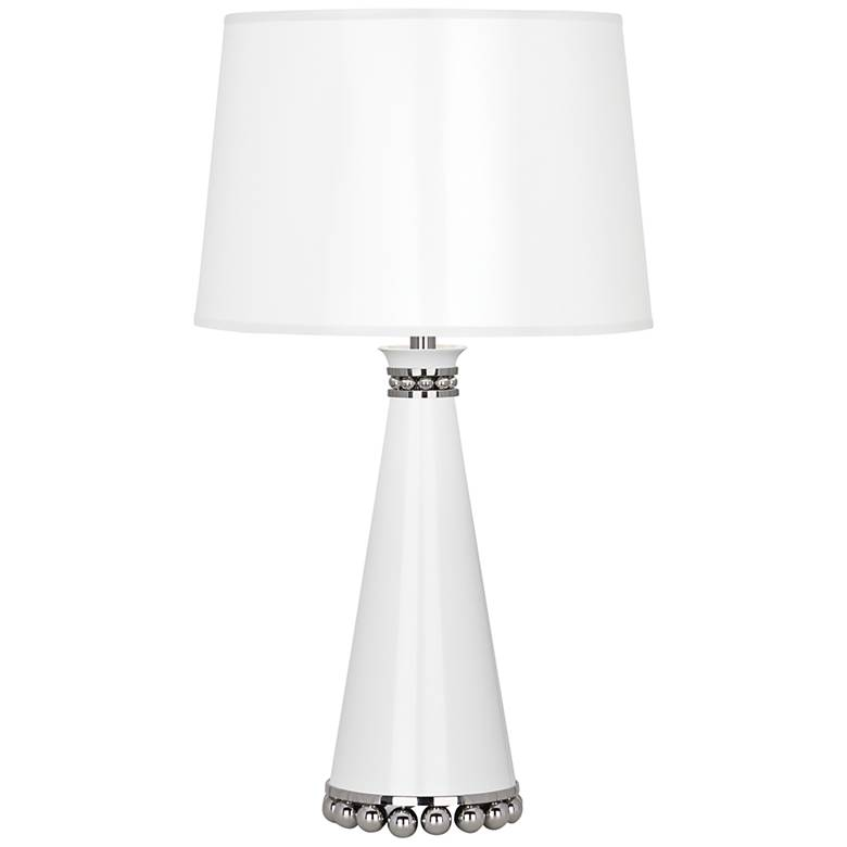 "Pearl 19 3/4""H Lily and Polished Nickel Accent Table Lamp"