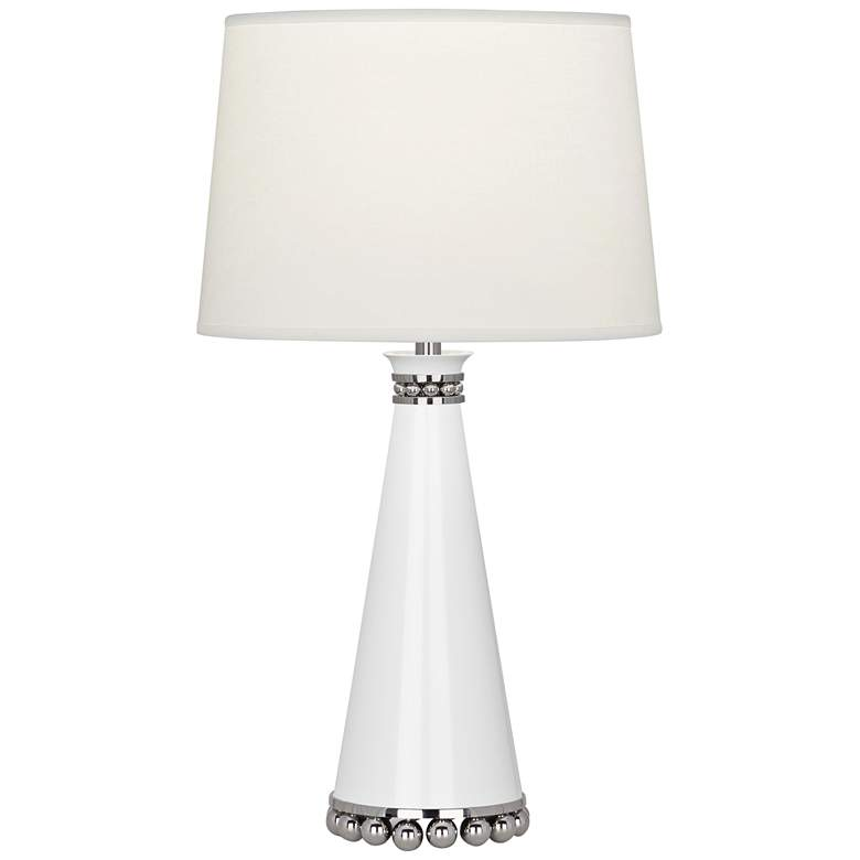 """Pearl 19 3/4""""H Lily and Nickel Table Lamp"""