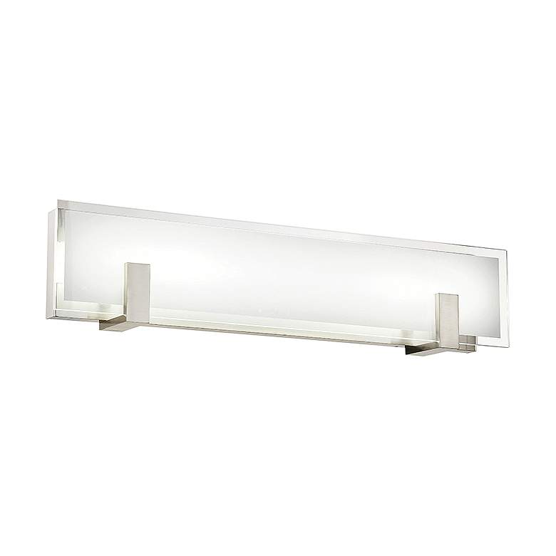 "dweLED Meridien 27"" Wide Brushed Nickel LED Bath Light"