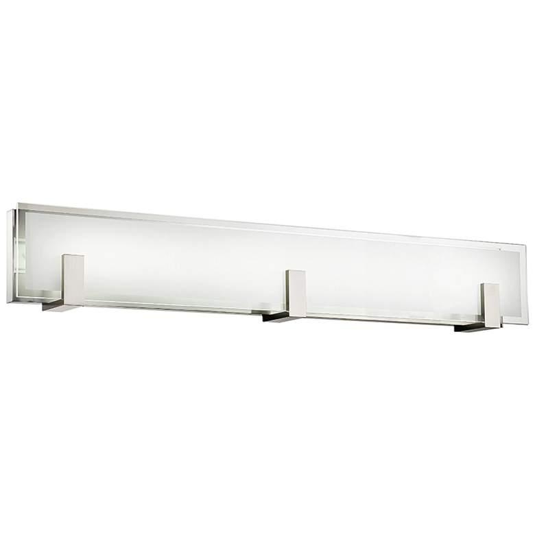 "dweLED Meridien 37"" Wide Brushed Nickel LED Bath Light"