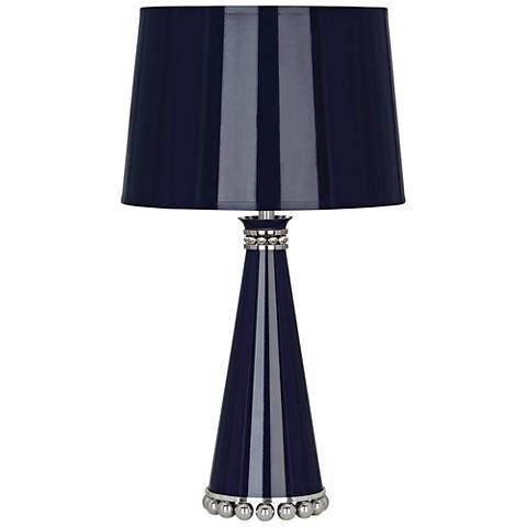 "Pearl 19 3/4""H Blue and Polished Nickel Accent Table Lamp"