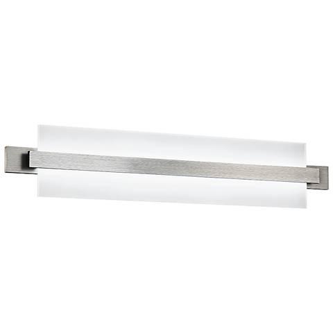 """dweLED Reflection 29"""" Wide Brushed Aluminum LED Bath Light"""