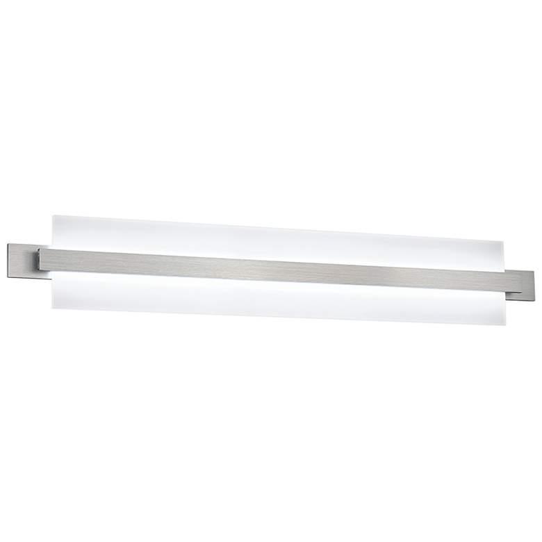 """dweLED Reflection 35 1/4"""" Wide Brushed Aluminum LED Bath Light"""