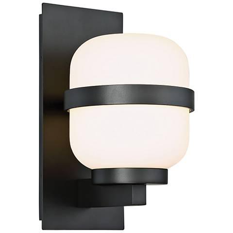 "dweLED Gaia 12"" High Black LED Outdoor Wall Light"