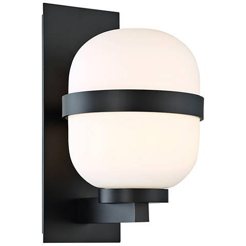 "dweLED Gaia 14"" High Black LED Outdoor Wall Light"