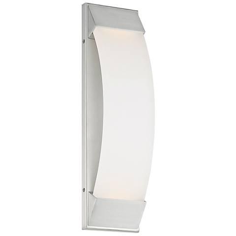 "dweLED Panorama 18""H Brushed Aluminum LED Outdoor Wall Light"