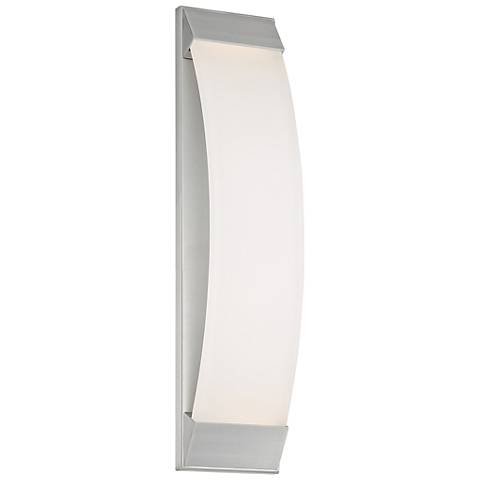 "dweLED Panorama 24""H Brushed Aluminum LED Outdoor Wall Light"