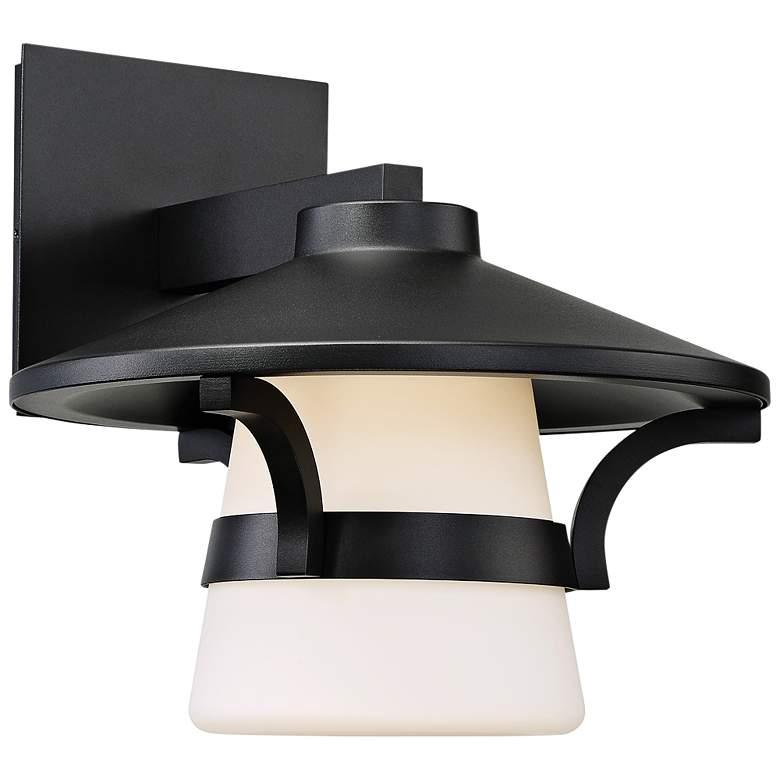 "dweLED Abode 11"" High Black LED Outdoor Wall Light"