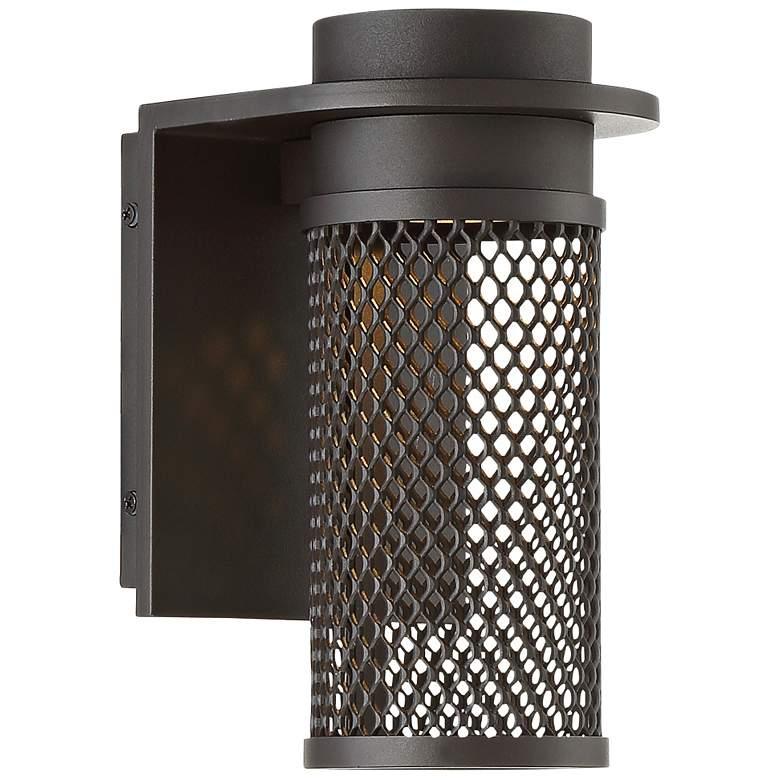 "dweLED Mesh 9"" High Bronze LED Outdoor Wall Light"