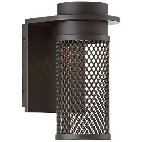 "dweLED Mesh 9"" High Bronze LED Outdoor Wall Light"