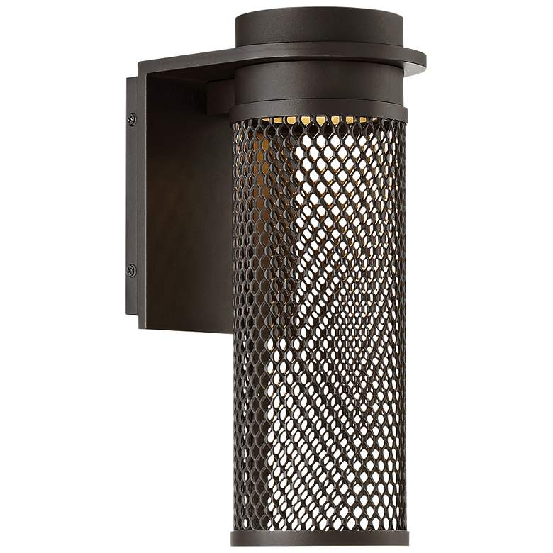 "dweLED Mesh 12"" High Bronze LED Outdoor Wall Light"
